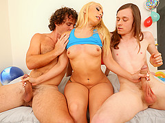 Aj Applegate & Robby Echo & Conor Coxxx in Sharing Buddies - TeensLoveHugeCocks