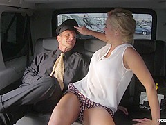 Fucked In Traffic - Hot blonde Czech babe squirts while getting fucked in traffic
