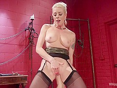 AJ Applegate Flogged, Fisted and Anally Strap-on Fucked by Lorelei Lee