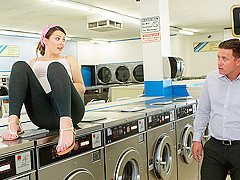 Cali Hayes in Little Laundromat Slut - TeamSkeet