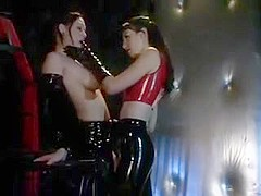 Latex Mistess and Lesbian Slave