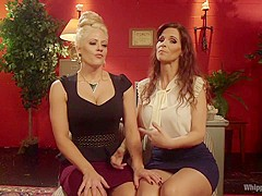 Horny milf, fetish porn scene with incredible pornstars Syren de Mer and Holly Heart from Whippedass
