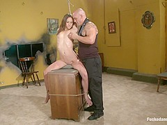 Horny anal, fetish porn scene with incredible pornstars Amber Rayne and Derrick Pierce from Dungeons