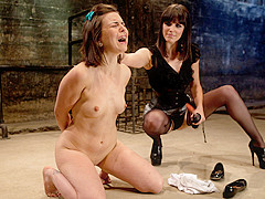 Horny fetish, brunette porn scene with amazing pornstars Juliette March and Bobbi Starr from Wiredpu