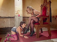 Exotic fisting, anal sex scene with crazy pornstars Vivi Marie and Mona Wales from Whippedass