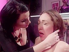 Fabulous fetish, anal adult video with crazy pornstars Lily LaBeau and Veruca James from Whippedass