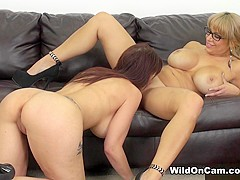 Alyssa Lynn & Syren De Mer in Alyssa and Syren Fucking - WildOnCam
