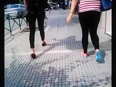 Greek Mom and NOT her daughter walking