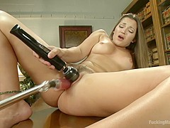 So hot, You Can Barely Look at Her: Dani Daniels on FuckingMachines