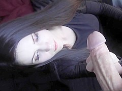 Pale college girl  Gives a Great Blowjob