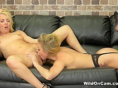Aaliyah Love & Britney Amber in Making Each Other Orgasm - WildOnCam