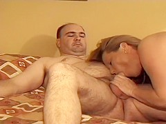 Swinging Couple Has A Threesome At Home