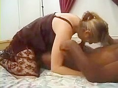 Cuckold watches wifey with ebony stallion