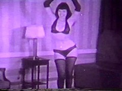 Fabulous pornstar Betty Page in crazy brunette, stockings porn scene