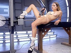 The Perfect Girl Next Door is Machine Fucked