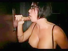 Busty MILF Gets Showered With Cum At The Gloryhole