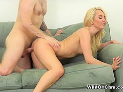Aaliyah Love & Axel Aces in Perky Blonde Aaliyah - WildOnCam