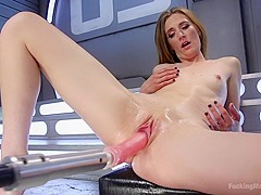 Mona Wales Submits to Our Machines and Squirts Everywhere!!