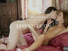 My Mom's Lesbian Cute Friend India Summer vs Megan Rain