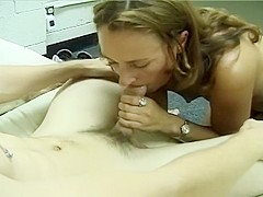 Shy Older Lady Sucks Big Cock