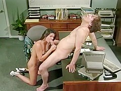 Slow Day at the Office Leads to Hot Fucking for Stephanie