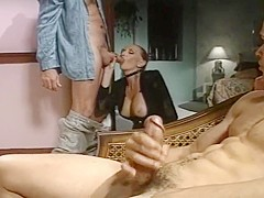 Jodie Takes on Two Big Cocks for a Sucking and Fucking Threesome
