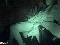 Jeny Smith undresses at movie theater