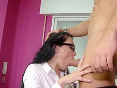 Hot milf and her younger lover 303