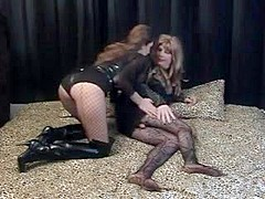 Mistress has fun with her tv slave