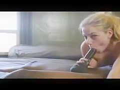 Blonde Gets Crazy With A Long Black Dick