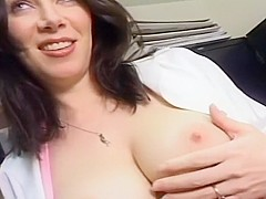 Hot Black Haired MILF Gives Great Head