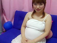 Yui aihara - cute japanese preggo nipple play