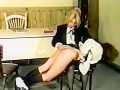 Spanked  the female teacher