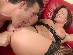 Veronica Avluv & Billy Glide in Sexy Older Woman Convinces Sexy Stud To Pound Her Pussy - SexyCougar