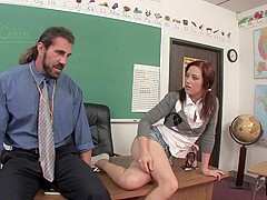 Cameron Love & Reno in Student Gets A Plus For A Suck And Fuck Performance - SexForGrades