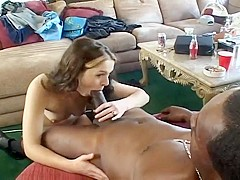 Young White Girl Pleasure Big Black Cock