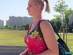 Ebba Sofie in Flower Dress Beauty Fucks for Cash - PublicAgent