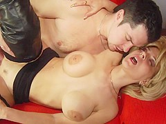 Anton in Blonde Prostitute In Knee High Boots Gets Fucked - Wankz