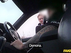 Demona in Slutty American fucked by UK Copper - FakeCop