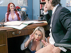 Rachel RoXXX & Skyla Novea & Jean Val Jean in Hungry For A Job - Brazzers