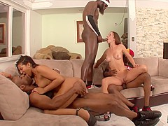 Emy Reyes & Mark Anthony & Julius Ceazher & Jon Jon in Three Hung Black Gentlemen Fuck Jada Stevens
