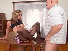 An Old Guy Named Dick Nasty Fucks A Short Haired Woman