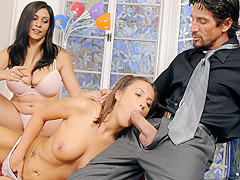 Raylene, Lizz Tayler in Wanna Fuck My Daughter Gotta Fuck Me First #09 , Scene #01