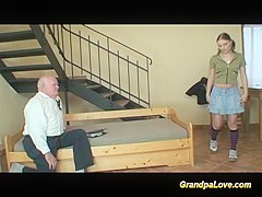grandpa in love with cute teen