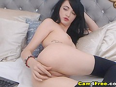 Hot Beautiful Teen Finger Fucks Her Pussy