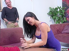 Sexy HotWife Jasmine Jae Gets Fucked By BBC While Cuckold Watching