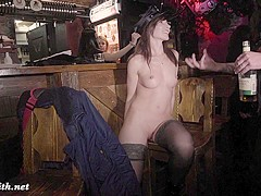 Jeny Smith public naked on stage