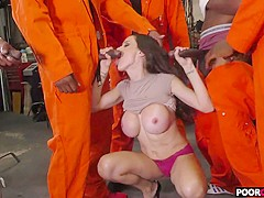 Cuckold cop watching black guys fucking his wife McKenzie Lee