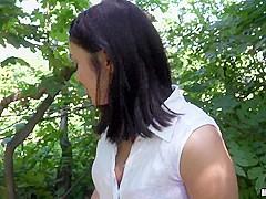 Jenny Sapphire in Euro Cutie's Outdoor Facial - PublicPickups