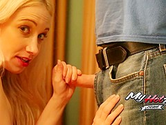 Dynamite and Randi are in 18 year old and MILF threesome action